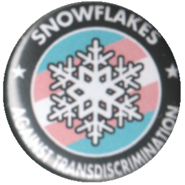 Snowflakes against Transdiscrimination auf Transflagge