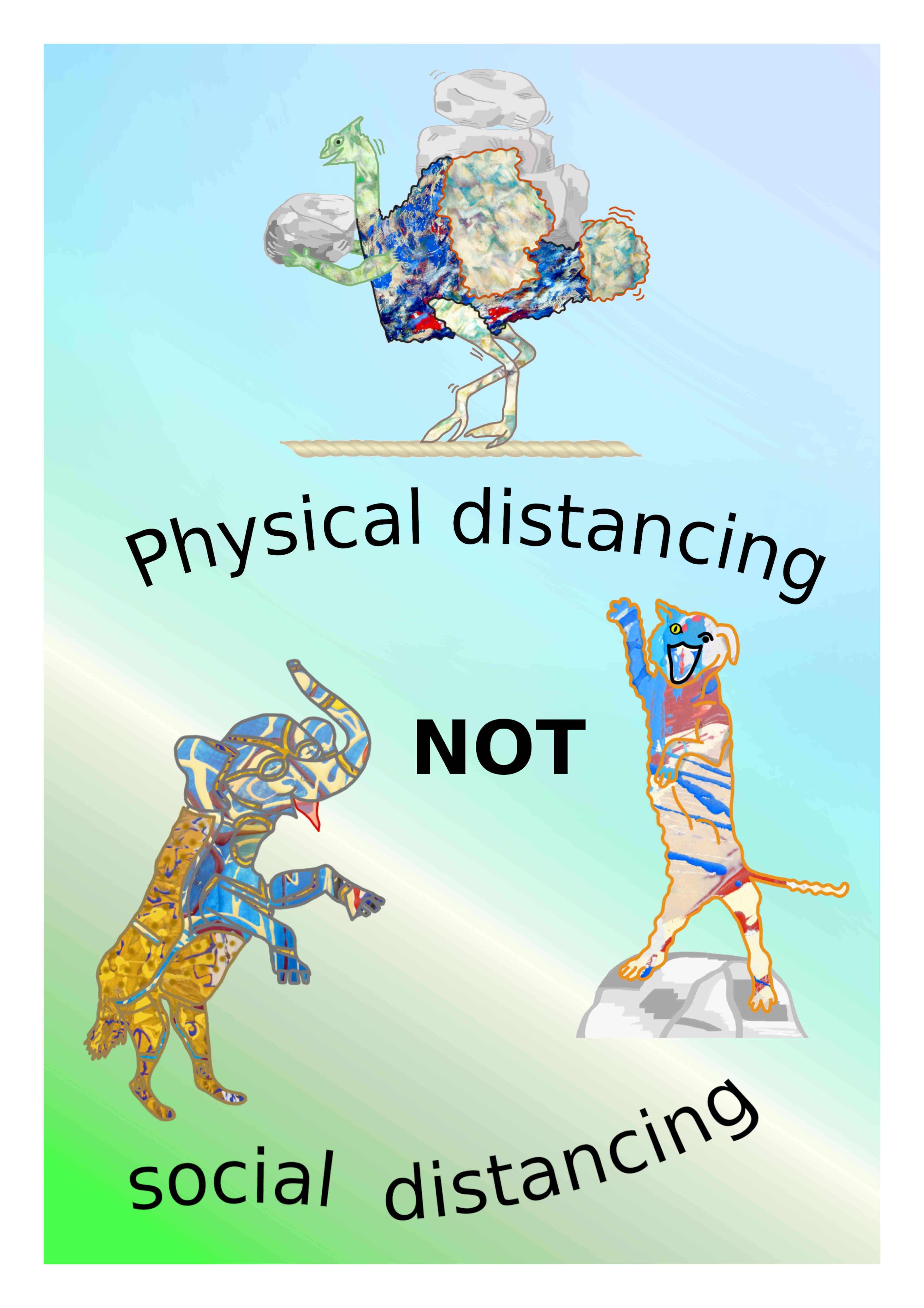 Physical Distancing NOT Social Distancing